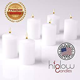 15 Hour Long Burn White Unscented Votive Candles Set of 36 HIGLOW by High glow candles