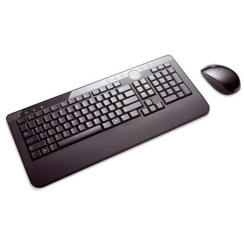 DELL Wireless Cordless Keyboard Mouse Set , AZERTY FRENCH Layout, Dell P/N : M820C , NEW , Complete with Batteries and USB wireless receiver