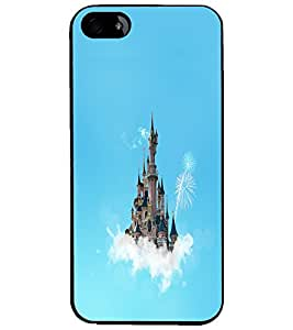 PrintDhaba Flying Castle D-1066 Back Case Cover for APPLE IPHONE 4 (Multi-Coloured)