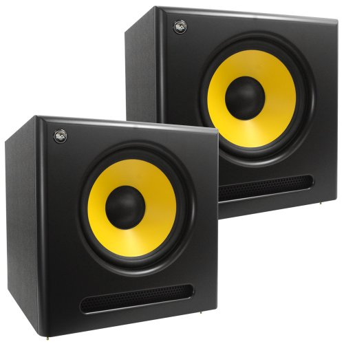 Seismic Audio - Spectra-12Sub-Pair - Pair Of Active 12 Inch Studio Subwoofers - 120 Watts Rms Each - Studio Subwoofers