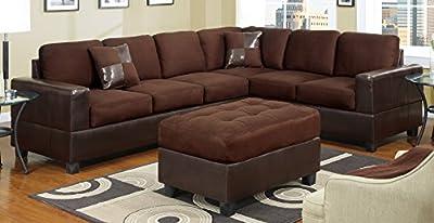 Bobkona Trenton Sectional Sofa (sectional sofa only)
