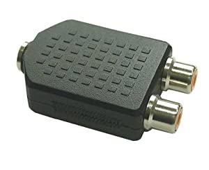 InLine Audio Adapter - 3,5mm Klinke Buchse Stereo an 2x Cinch Buchse, 99346