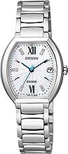 [シチズン]CITIZEN 腕時計 EXCEED エクシード エコ・ドライブ電波時計 チタニウムコレクション 限定ダイヤモンドモデル ES8140-68W レディース