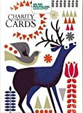 Luxury Charity Christmas Cards (ALM2321)In Aid Of Macmillan Cancer Support - Robins / Deer - 12 Cards & Envelopes - 2 Designs