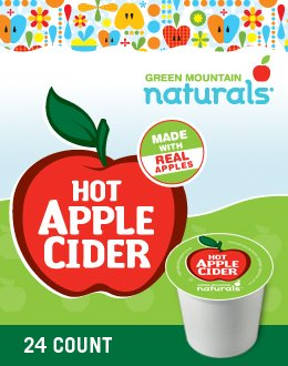 Green Mountain Naturals Hot Apple Cider K-Cup (96 Count) front-489999