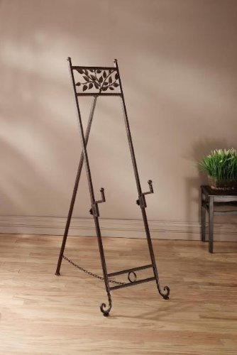 StealStreet SS-Tri-56000 56 inch Natural Elements Metal Floor Easel