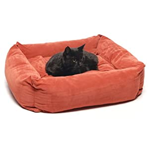 CPC Microfiber 24-Inch Square Pet Bed, Earth Red