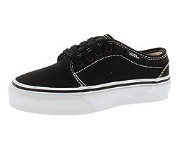 Vans Toddler/Youth 106 Vulcanized, Black/White-2 YouthM