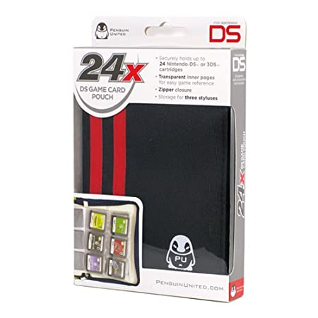 24X DS GAME CARD POUCH BLACK/RED (VIDEO GAME ACCESSORIES)