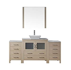 Virtu usa ks 70066 wm lo modern 66 inch single sink - 66 inch bathroom vanity single sink ...