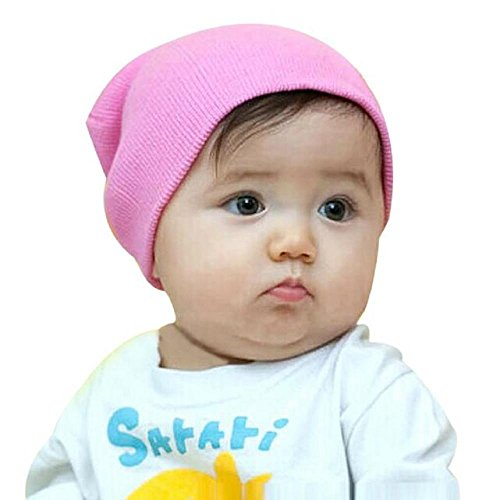 [Baby Hat, Yasalu Baby Beanie Boy Girls Soft Stretchy Winter Warm Cap (Pink)] (Jack In The Box Costume Head For Sale)