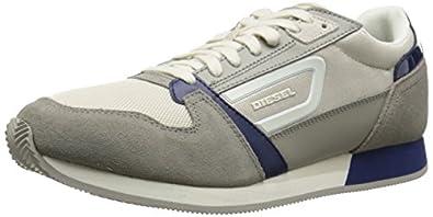 Diesel Men's Runtrack Owens Fashion Sneaker, H Taupe/Peacoat Blue, 7 M US