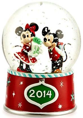 Disney – Mickey and Minnie Mouse 2014 Snowglobe – Holiday – New