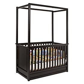 Babyletto Newhaven 4-in-1 Convertible Canopy Crib in Dark Chocolate