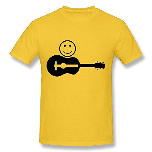 Designed Man'S Smiley Gitarre Pure Cotton Shirt front-617505