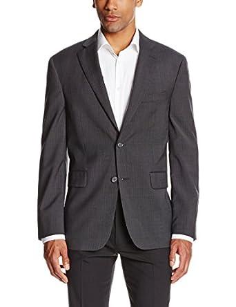 Nautica Men's True Travelwear Check Suit Separate Jacket, Charcoal, Short/38