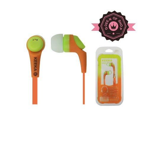 Queen K09 Orange Buy 2 Get 1 High Quality Sound Wired Dual Color Earbud 3.5Mm Universal Headset For Apple Ipad 1/2 And Most Cell Phone Models Good Gift For Kids