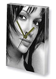 ALYSSA MILANO - Canvas Clock (A4 - Signed by the Artist) #js008