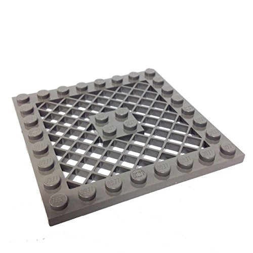 Lego Parts: Modified Plate 8 x 8 with Grille (Old Dark Gray) - 1