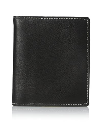 Leone Braconi Men's Nappa Merino Leather Card Case, Black