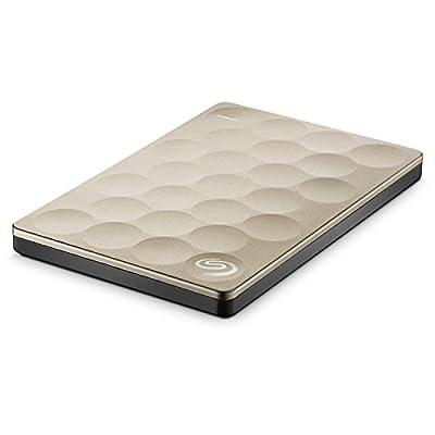 Seagate Backup Plus Ultra Slim 1TB Portable Drive (Gold)
