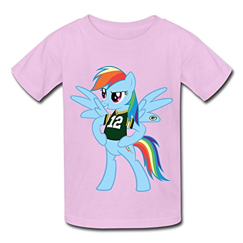 Youth T Shirt Green Bay Packers Rainbow Dash Pony Pink Size S