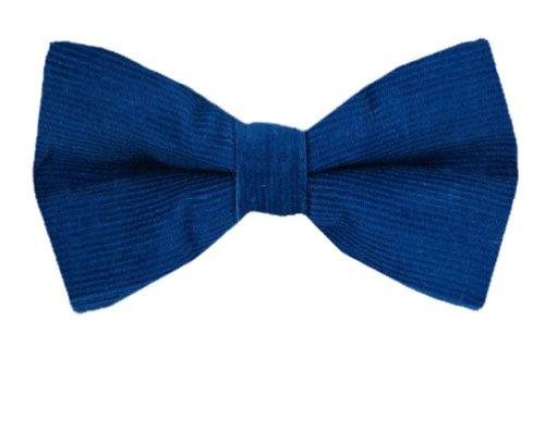 Pbt-10492 - Blue Men Corduroy Pre Tied Bow Tie
