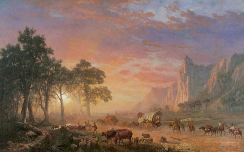 The Oregon Trail by Albert Bierstadt
