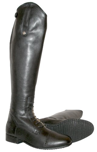 Mark Todd Full Zip Leather Field Boot - Black, 40 Wide