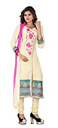 7 Colors Lifestyle Women's Cotton Salwar Suit Dress Material(ALVDR2006AIRA_Light Cream)