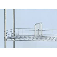 "Quantum Storage Systems SL24 Side Ledge for 24"" Deep Wire Shelving Units, Chrome Finish, 1"" Width x 24"" Length x 4"" Height"
