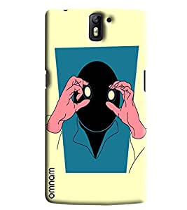 Omnam Boy Watching With Eyes Printed Designer Back Cover Case For One Plus One