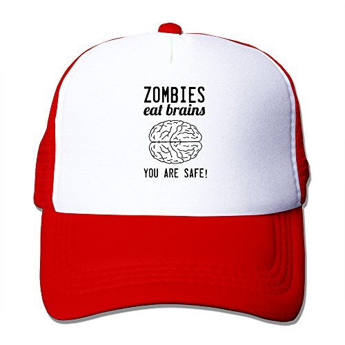 Zombies Eat Brains Snapback Field Red