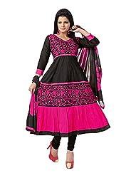 Soru Fashion Women's Cotton Dress Material (Shiv-1104_Black_Free Size)