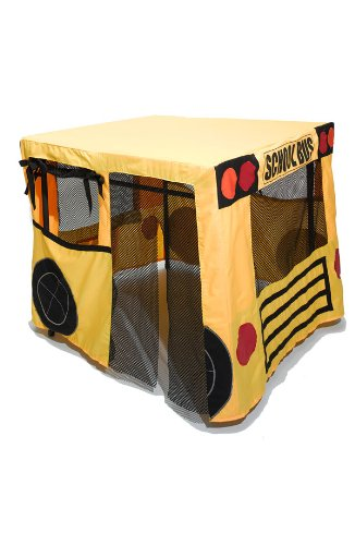Table Fables Fabric Play House (Yellow School Bus)