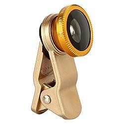 Spider Designs Macro Fish eye Lenses 3 In 1 Lens Gold