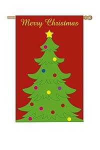 Garden Sized Fiber Optic Flag: Christmas Tree