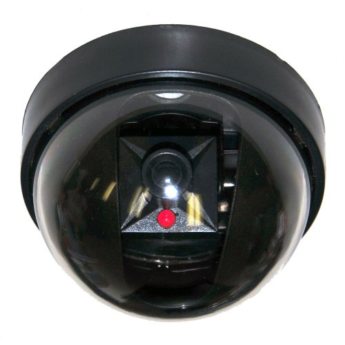 VideoSecu Dummy Fake Imitation Security Camera with Flashing Light LED Cost-effective Security CCTV Simulated Dome Camera 3PZ