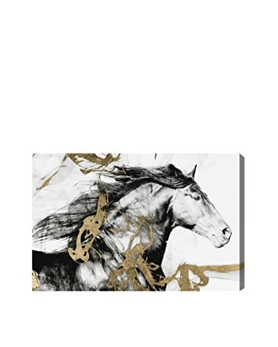 """Oliver Gal """"Gold And Black Beauty"""" Canvas Art"""