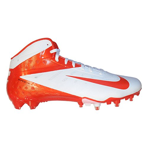 Nike Vapor Talon Elite 3/4 TD Men's Molded Cleats (14, White/Orange Flash) (Nike Boys Vapor Elite compare prices)