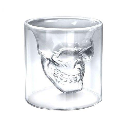 Bicchieri In Vetro Di Cristallo Per Alcolici A Forma Di Teschio Da 74ml - Confezione Da 4 Pezzi [version:x8.1] by DELIAWINTERFEL