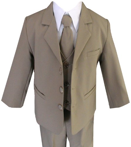 Gino Formal Suit Set Khaki For Boys From 10 To 20 Teen (16) front-1017306