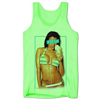 Bang Tidy Clothing Men's Sexy Hot Ice Cream Girl Low Cut Vest