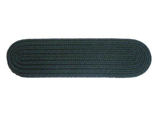 Rhody Rug Monaco Spruce Green 8-Inch by 28-Inch Braided Stair Tread