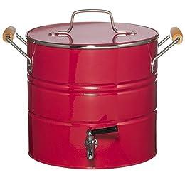 Metal Water Cooler - Red