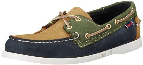 Sebago Men'S Spinnaker Shoe,Navy/Tan/Pine,10 M Us front-687558