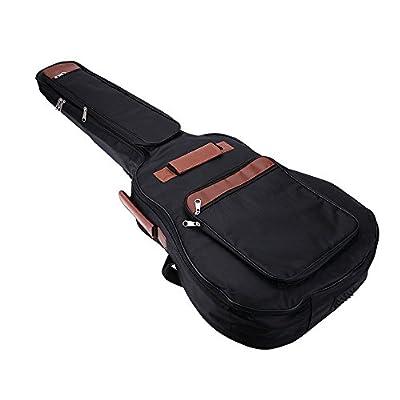 """SODIAL(R)41"""" Guitar Backpack Shoulder Straps Pockets 8mm Cotton Padded Gig Bag Case"""