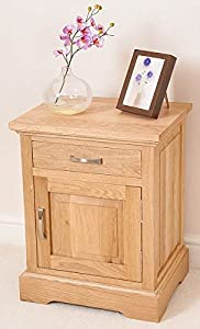 ASPEN SOLID OAK BEDSIDE TABLE / CABINET BEDROOM FURNITURE       review and more information