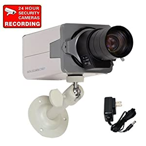 VideoSecu Home Body Box Surveillance Camera Day Night Vision 700TVL High Resolution Built-in 1/3