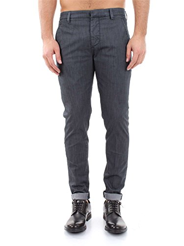 DONDUP GAUBERT UP235 PTD BLACK PANTALONE Uomo BLACK 30